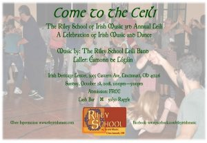 Come To The Ceili 2018 Flyer